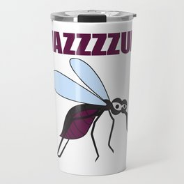 Mosquito Wazzup Insect Comic Saying Funny Blood Sucker Gift idea Travel Mug