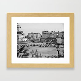 Tenby Harbour. Black+White. Reflection. Framed Art Print