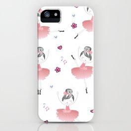Little Dancing Ballerinas Pattern iPhone Case