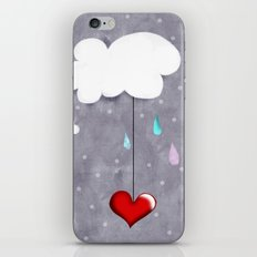 Clouds and Hearts Purple Polka Dots iPhone & iPod Skin
