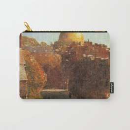 Classical Masterpiece 'Mount Vernon Street, Boston' by Frederick Childe Hassam Carry-All Pouch