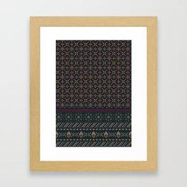 Geometric patterned print - Cat Framed Art Print
