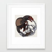 bouletcorp Framed Art Prints featuring Ouroboros by Bouletcorp