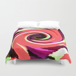 Painted Wind Whirl Duvet Cover