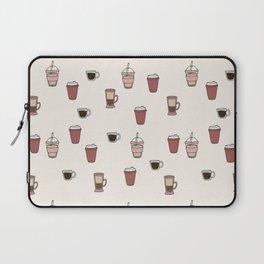 Coffee Doodle Pattern Laptop Sleeve