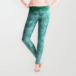 Aqua Bubble Wrap Leggings