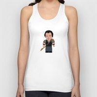 """springsteen Tank Tops featuring The Boss by Michele """"Sonik"""" Bruseghin"""