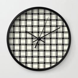Ivory Weave Wall Clock