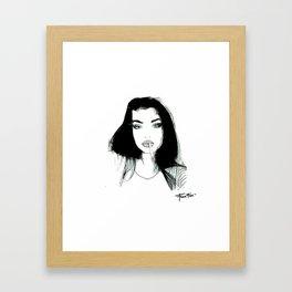 La Parisienne qui fume Framed Art Print
