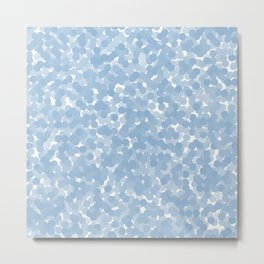 Airy Blue Polka Dot Bubbles Metal Print