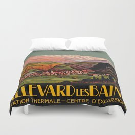 Allevard France - Vintage Travel Poster Duvet Cover