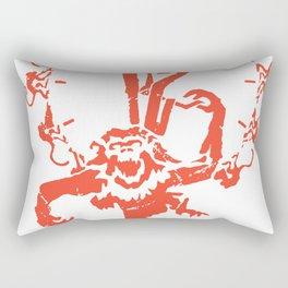 1 2 Monkeys Artwork Logo, Movies Designs For Prints, Posters, Tshirts, Bags, Men, Women, Kids Rectangular Pillow