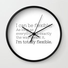 I'm totally flexible - GG Collection Wall Clock