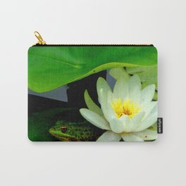 Waterlily & Frog Carry-All Pouch
