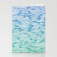 waves Stationery Cards featuring Ombré Waves by Cat Coquillette