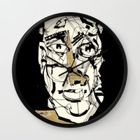 golden Wall Clocks featuring Golden by 5wingerone