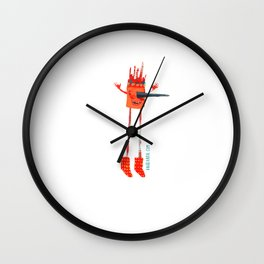 The City in the Sky Wall Clock