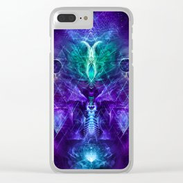 Psychonaut - Fractal Manipulation - Psychedelic Visionary - Manafold Art Clear iPhone Case
