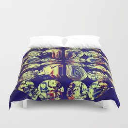 Popping To The Brit Duvet Cover