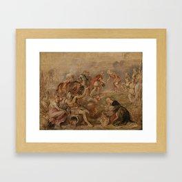 King Ferdinand Meeting Cardinal-Infante Ferdinand , Peter Paul Rubens, 1635 Framed Art Print