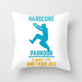 Parkour Free Running backflip somersault Throw Pillow