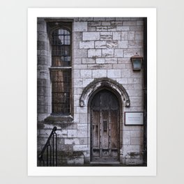 Lincoln Cathedral Refectory Door Art Print
