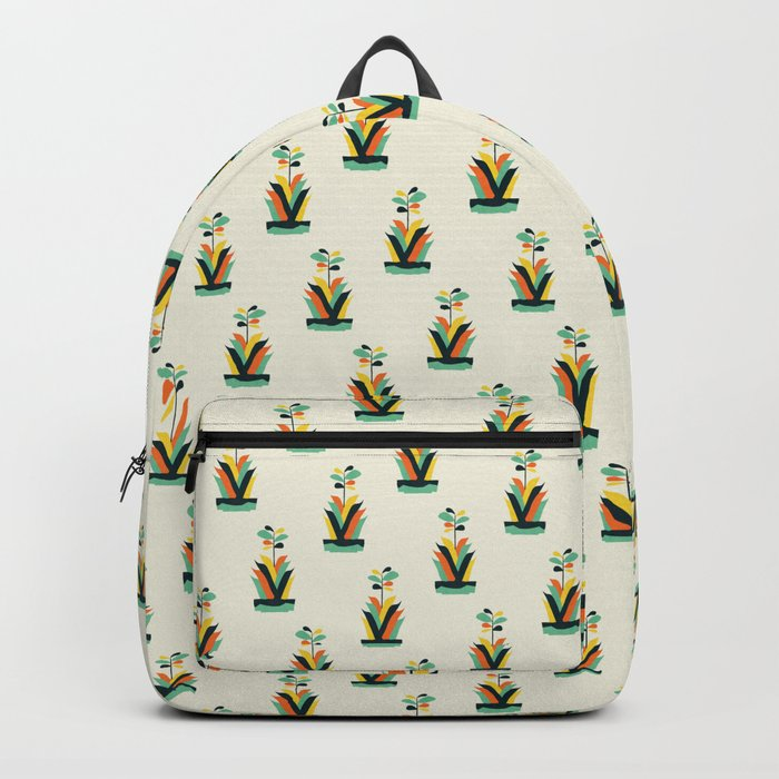 Exotic geometric plant Backpack