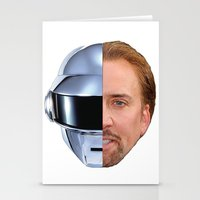 nicolas cage Stationery Cards featuring Daft Cage by Jared Cady