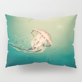 Lady Jellyfish is swimming in the calm sea of Trieste. Pillow Sham