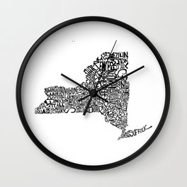 Typographic New York Wall Clock