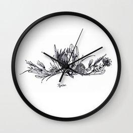 Fynbos BW Wall Clock