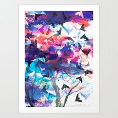 Fruitbat Sunset Art Print