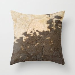 pool floor tree floral leaves shadow 2 Throw Pillow
