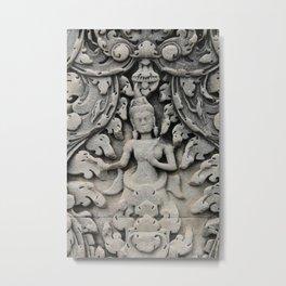 Grey Lady, Cambodia Metal Print