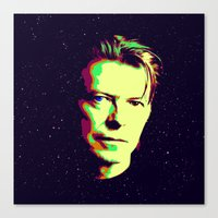 bowie Canvas Prints featuring Bowie by victorygarlic - Niki