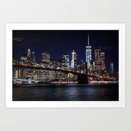 The Lights of New York City Art Print
