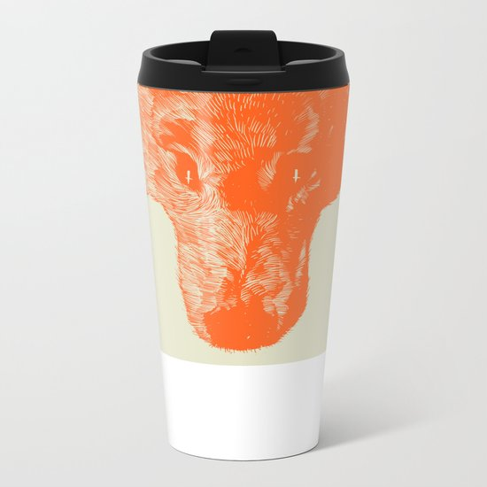 Head Coyote Metal Travel Mug