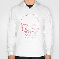 aladdin Hoodies featuring One line Aladdin Sane by quibe