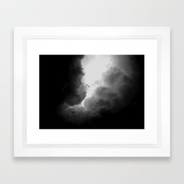 jump    ing    a    pu    ddle    o f    cl  ou   ds  . Framed Art Print