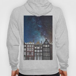 Amsterdam Nertherlands At Night-Canal Houses Hoody