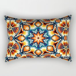 Colorful Concentric Motif Rectangular Pillow