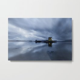 Scotland Dusk at Castle Stalker Metal Print