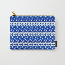 Blue Stripe Carry-All Pouch