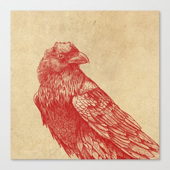 Red Raven  Canvas Print