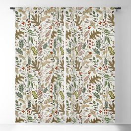 Christmas in the wild nature Blackout Curtain