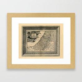 Map Of Israel 1729 Framed Art Print