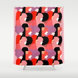 Together Girl Power - Pattern #girlpower Shower Curtain