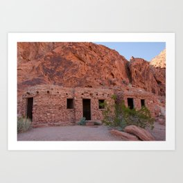 CCC Cabins-1, Valley of Fire State Park, Nevada Art Print