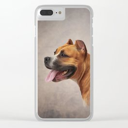 American Staffordshire Terrier 6 Clear iPhone Case