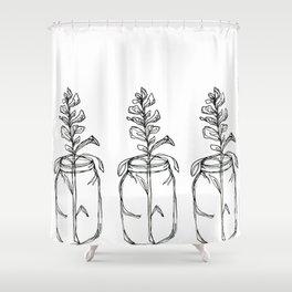 Three Lupins Shower Curtain